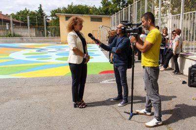 "Откриха уникална  спорт-арт площадка в ГСАГД""Кольо Фичето"" - Изображение 2"