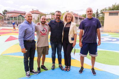 "Откриха уникална  спорт-арт площадка в ГСАГД""Кольо Фичето"" - Изображение 7"