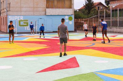 "Откриха уникална  спорт-арт площадка в ГСАГД""Кольо Фичето"" - Изображение 8"
